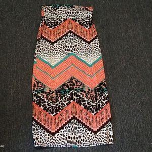 Rue 21 multiprint long skirt!